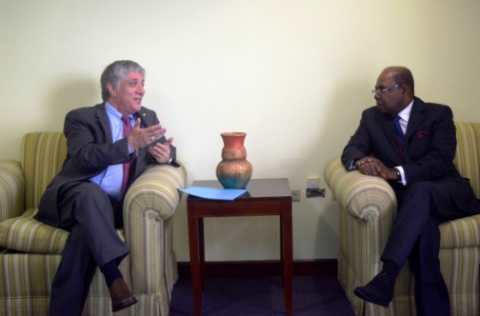 Minister Bartlett Meets With US Ambassador to Jamaica
