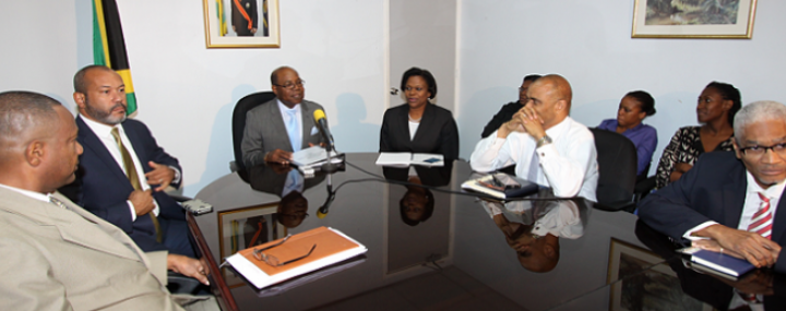 Minister of Tourism Hon. Edmund Bartlett meets Ministry staff